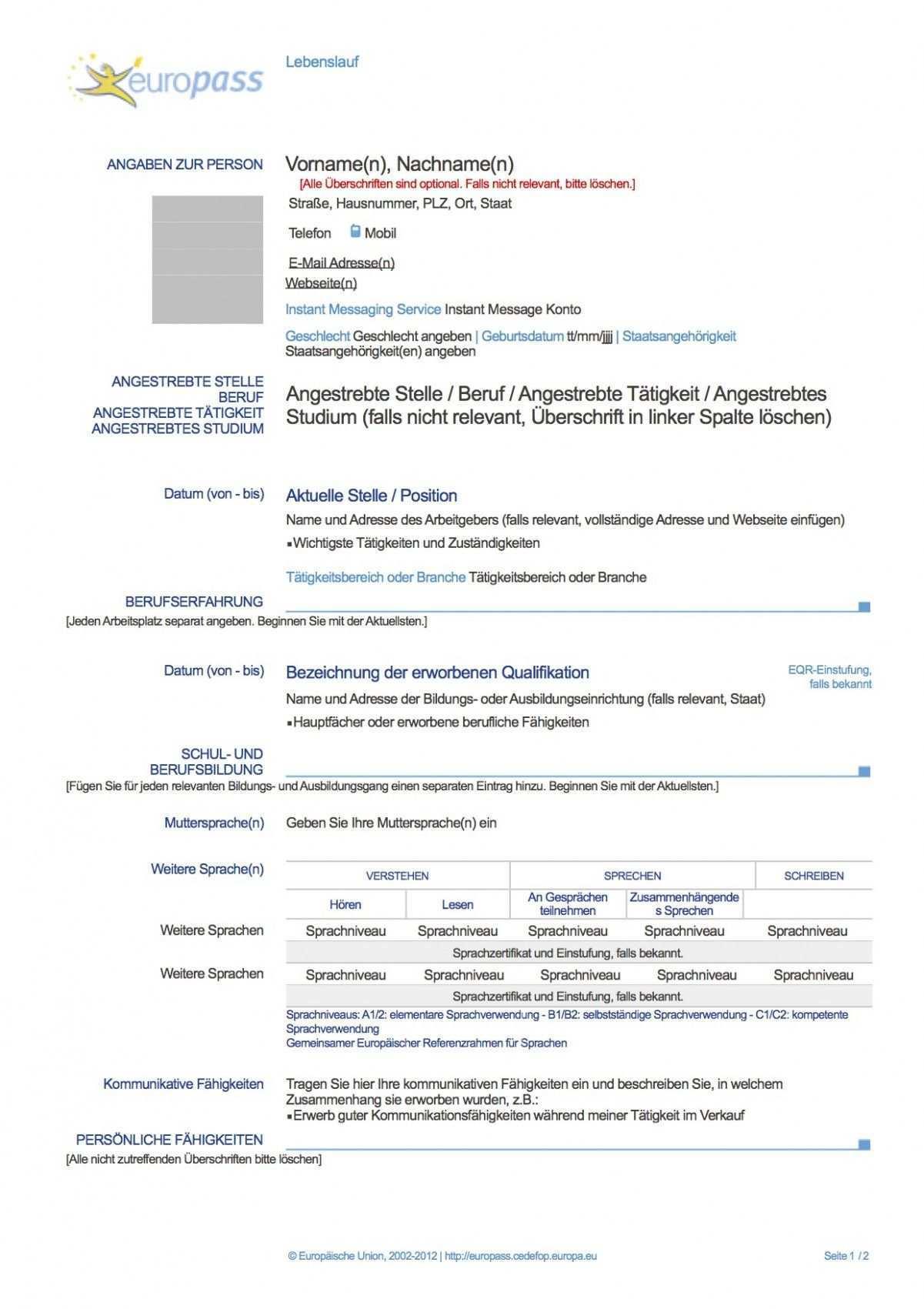 Deutscher Lebenslauf Auf Englisch Resume Templates Resume Resume Template Word