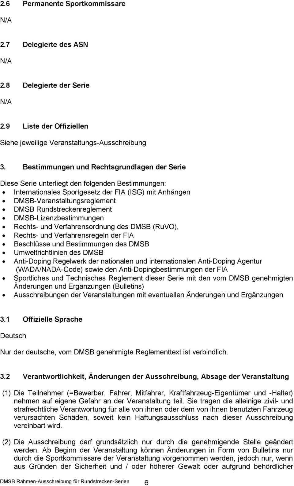 Rahmen Ausschreibung Fur Rundstrecken Serien Im Automobilsport Stand Pdf Kostenfreier Download