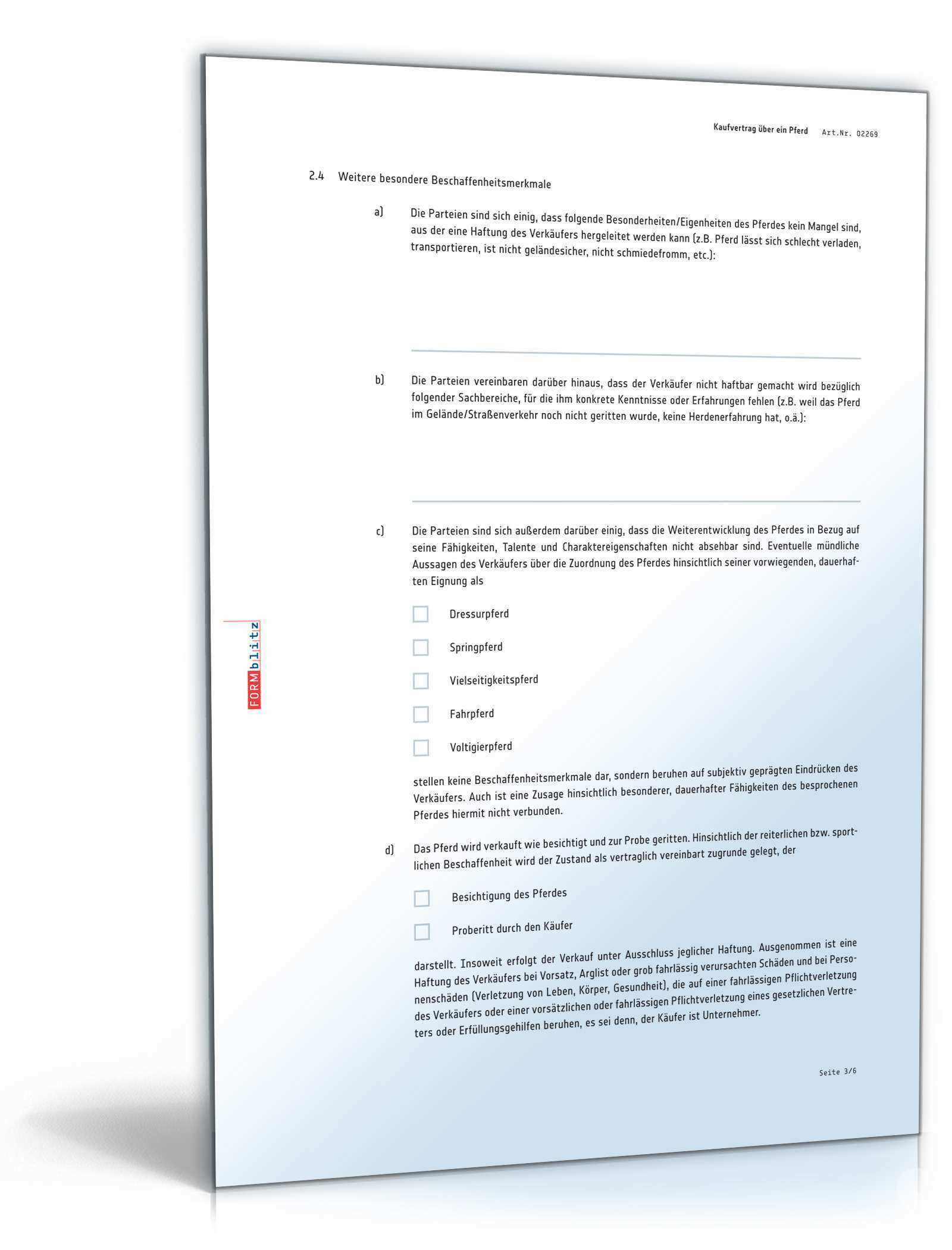 Kaufvertrag Pferd Rechtssicheres Muster Zum Download