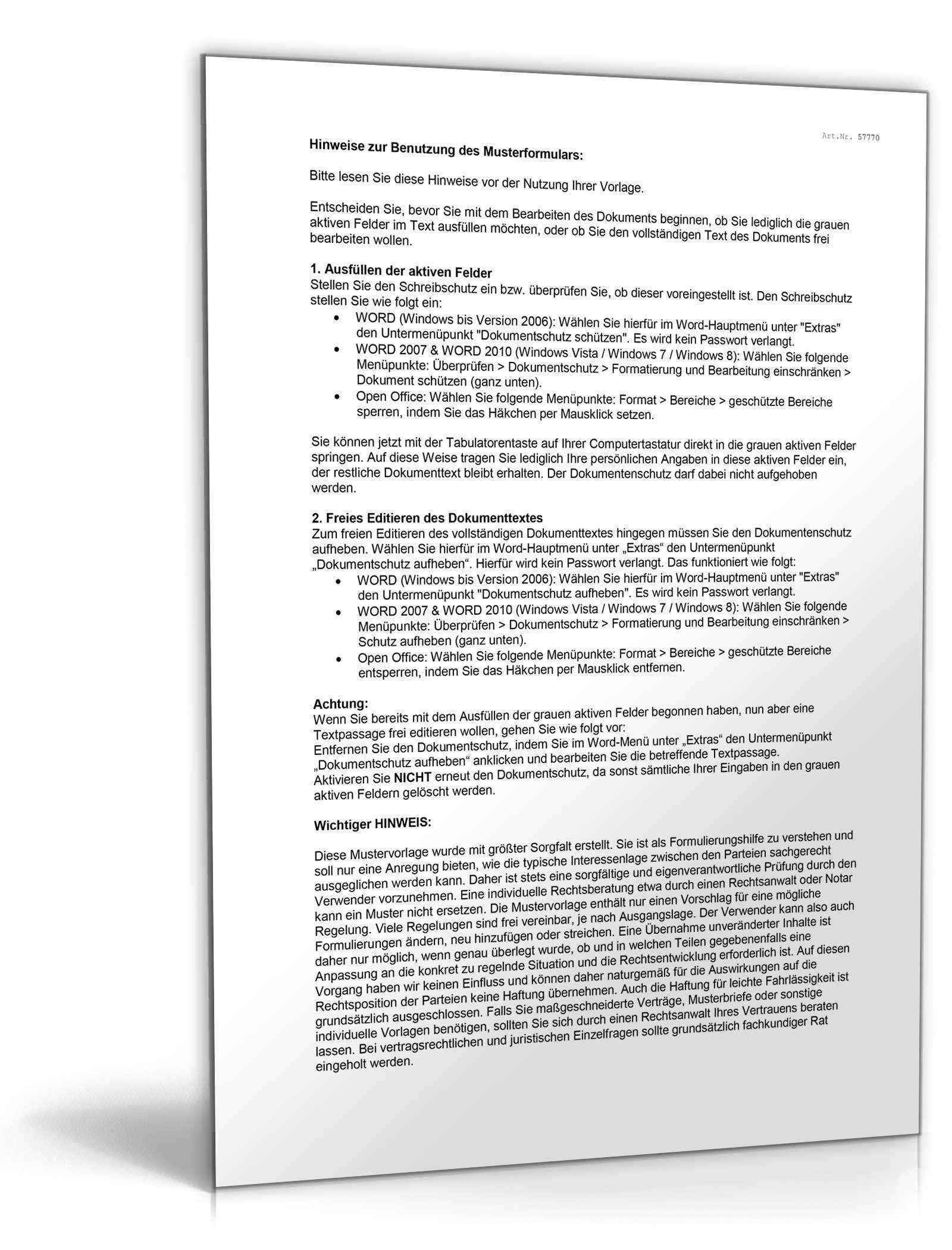 Freistellungserklarung Mindestlohngesetz Muster Zum Download