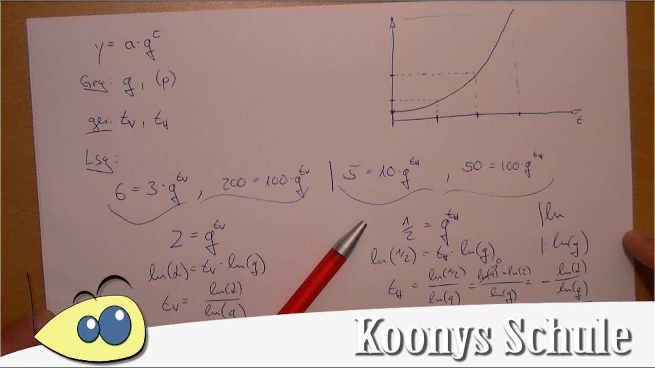 Halbwertszeit Und Verdopplungszeit Exponentielles Wachstum Logarithmus Youtube