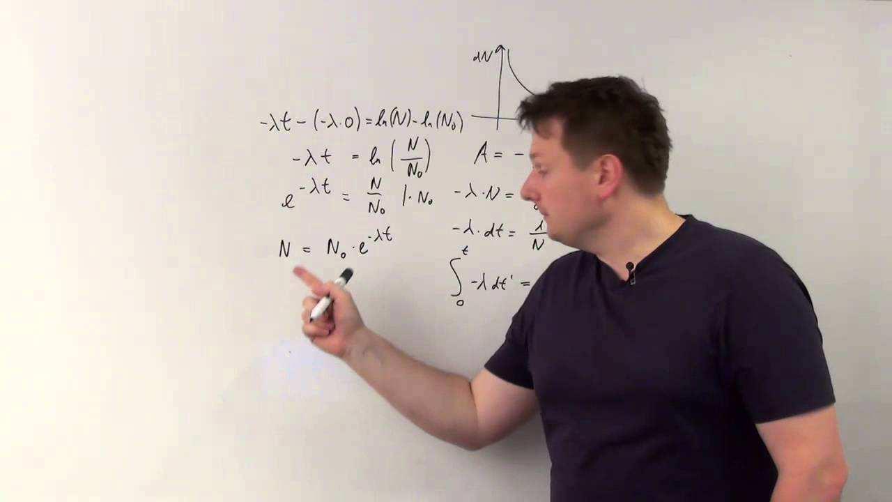 Zerfallsgesetz Berechnung Abiweb Physik Youtube