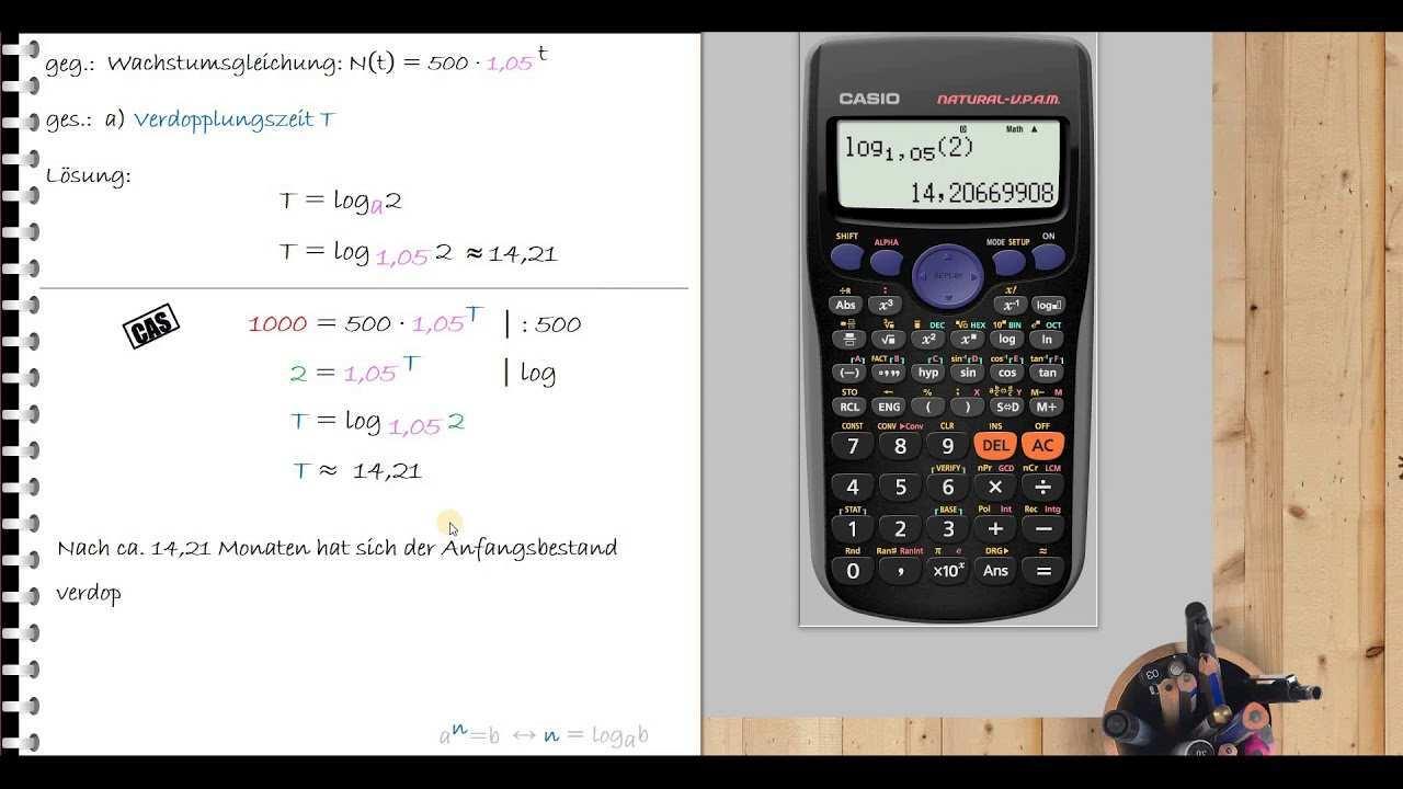 Beispielaufgabe Zur Berechnung Der Halbwertszeit Und Verdopplungszeit Youtube