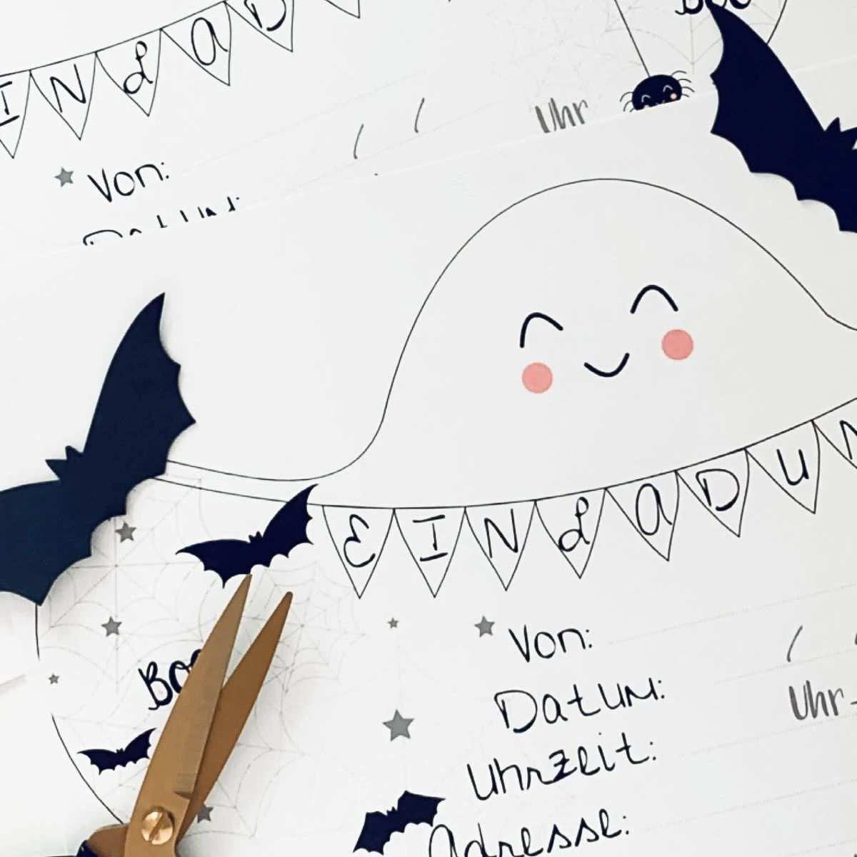 Vorlage Fur Eine Halloween Einladung Fur Kinder Halloween Einladung Halloween Anhanger Halloween Feiern Mit Kindern