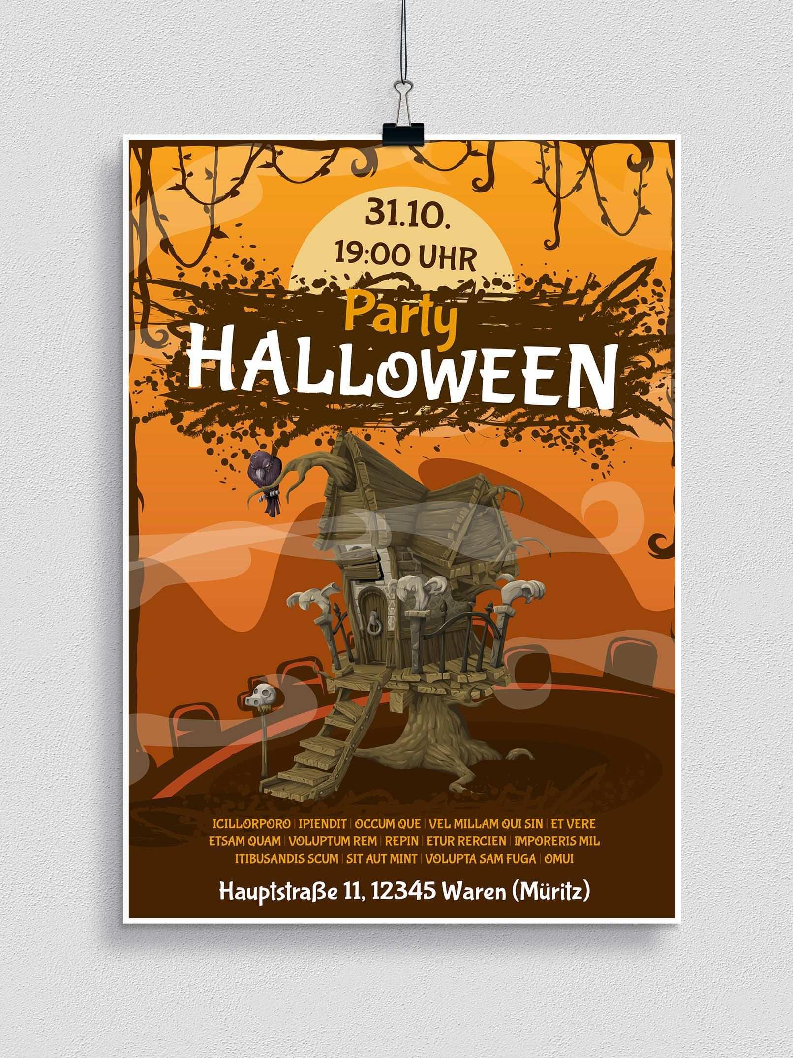 Halloween Vorlagen Fur Plakat Flyer Einladung Herunterladen Halloween Einladung Flyer Halloween