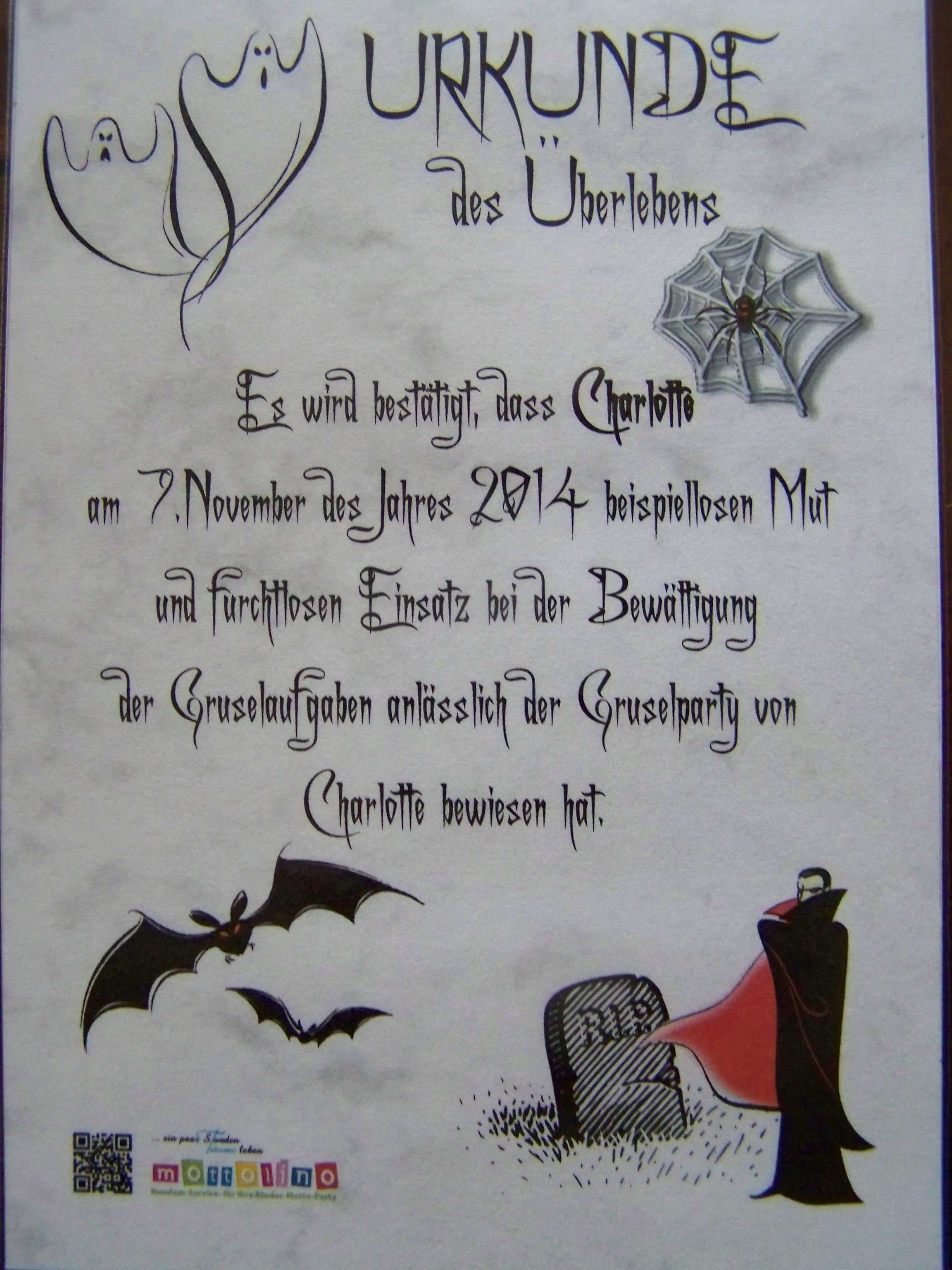 Urkunde Gruselparty Einladungskarten Kindergeburtstag Halloween Kinder Halloween Einladung