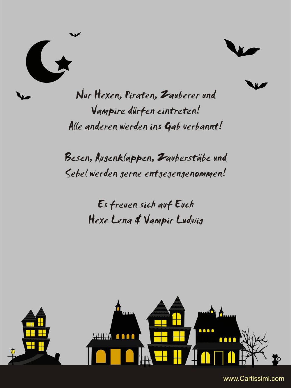 halloween einladung vorlage