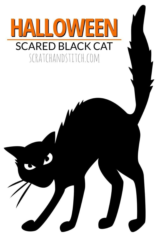 18 Black Cat Halloween Decorations Black Cat Halloween Halloween Window Silhouettes Halloween Cat