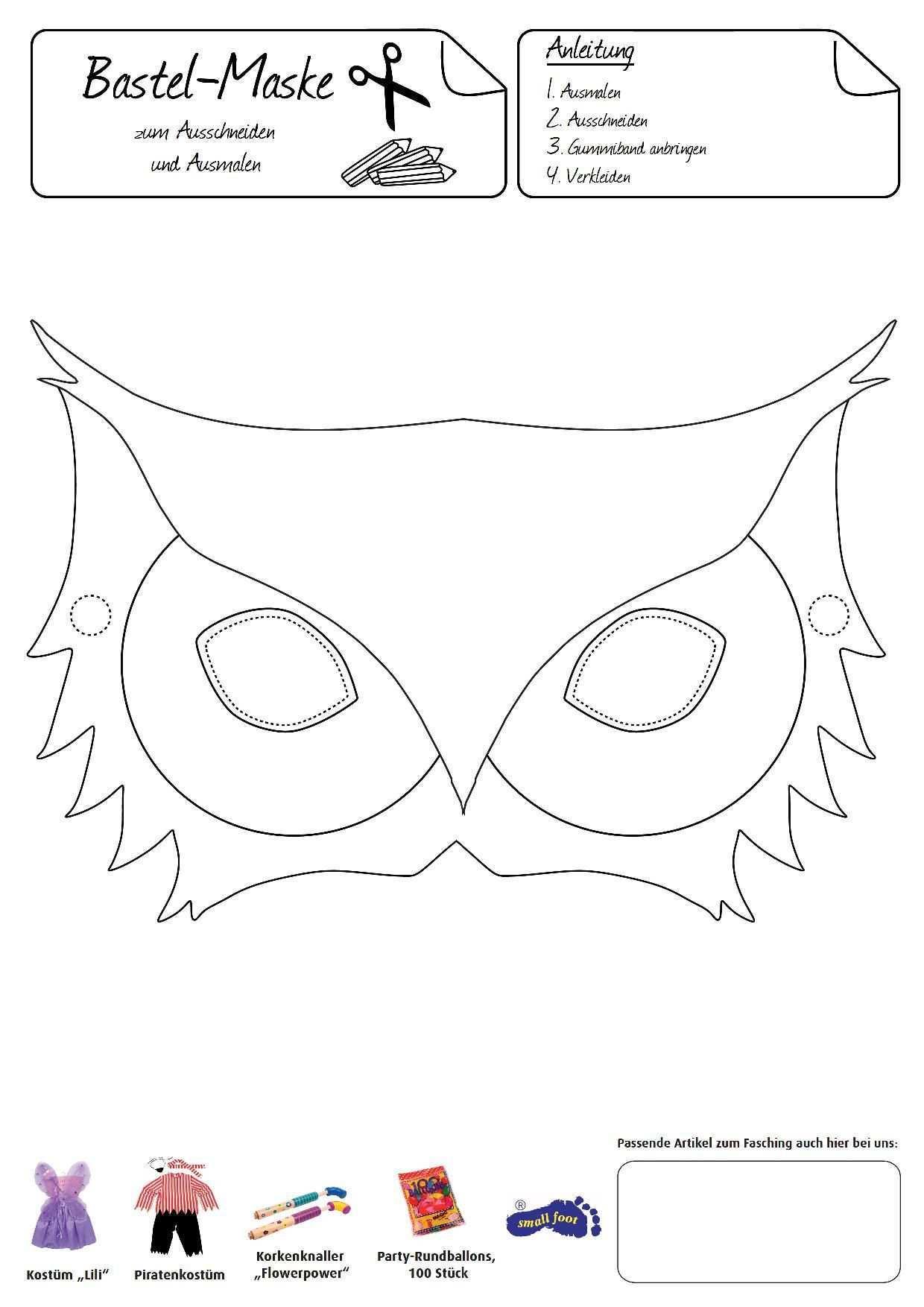 Eulen Maske Das Trendige Tier Zum Aufsetzen Und Verkleiden Halloween Masken Basteln Tiermasken Basteln Masken Basteln