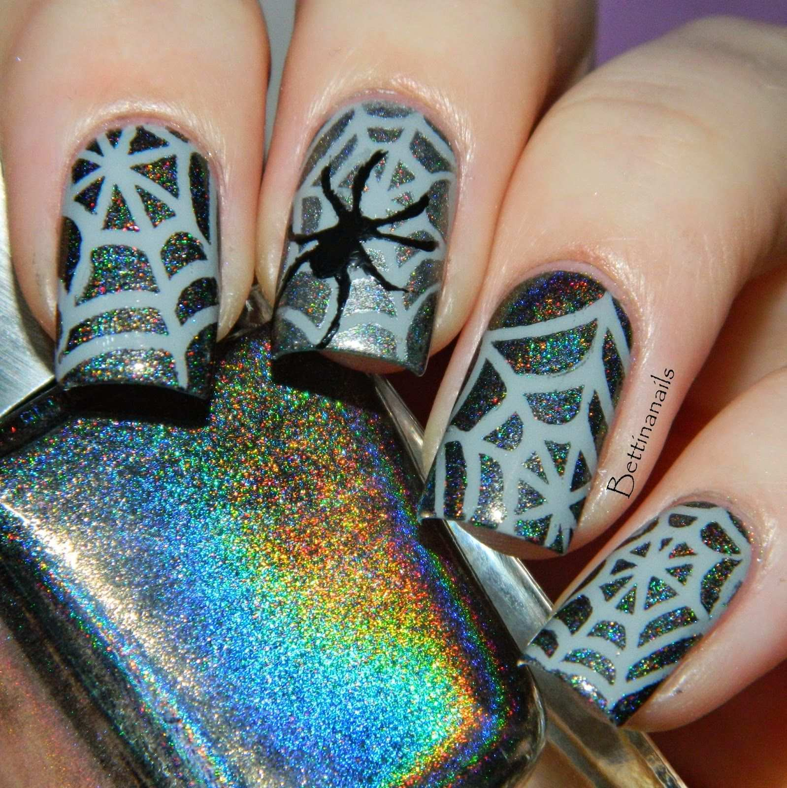 Nail Art Sticker Stencils By Sticky Nails Nagelkunst Design Trendy Nagelkunst Halloween Nageldesign
