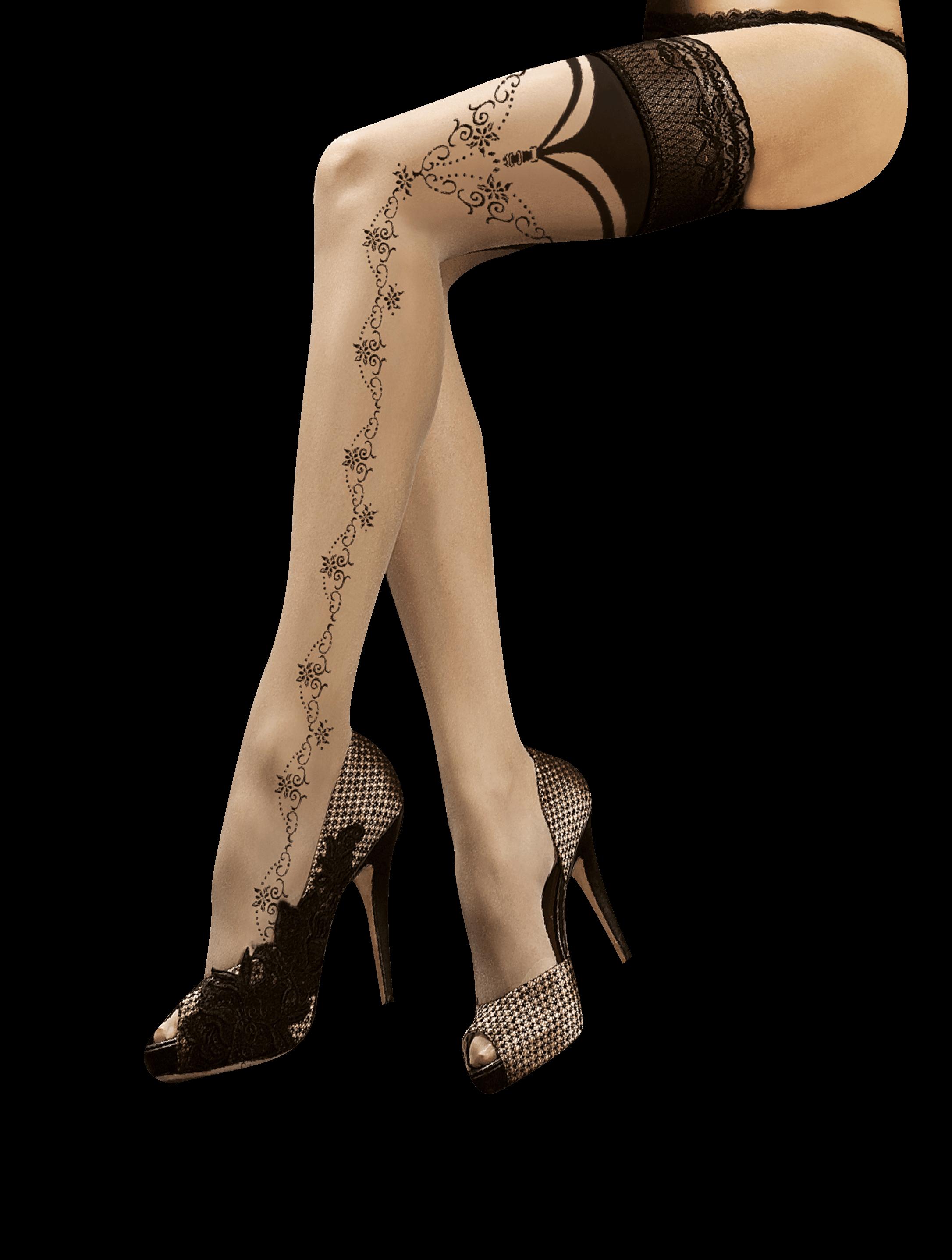 Halterlose Strumpfe Mit Silikonband Burlesque Dessous De