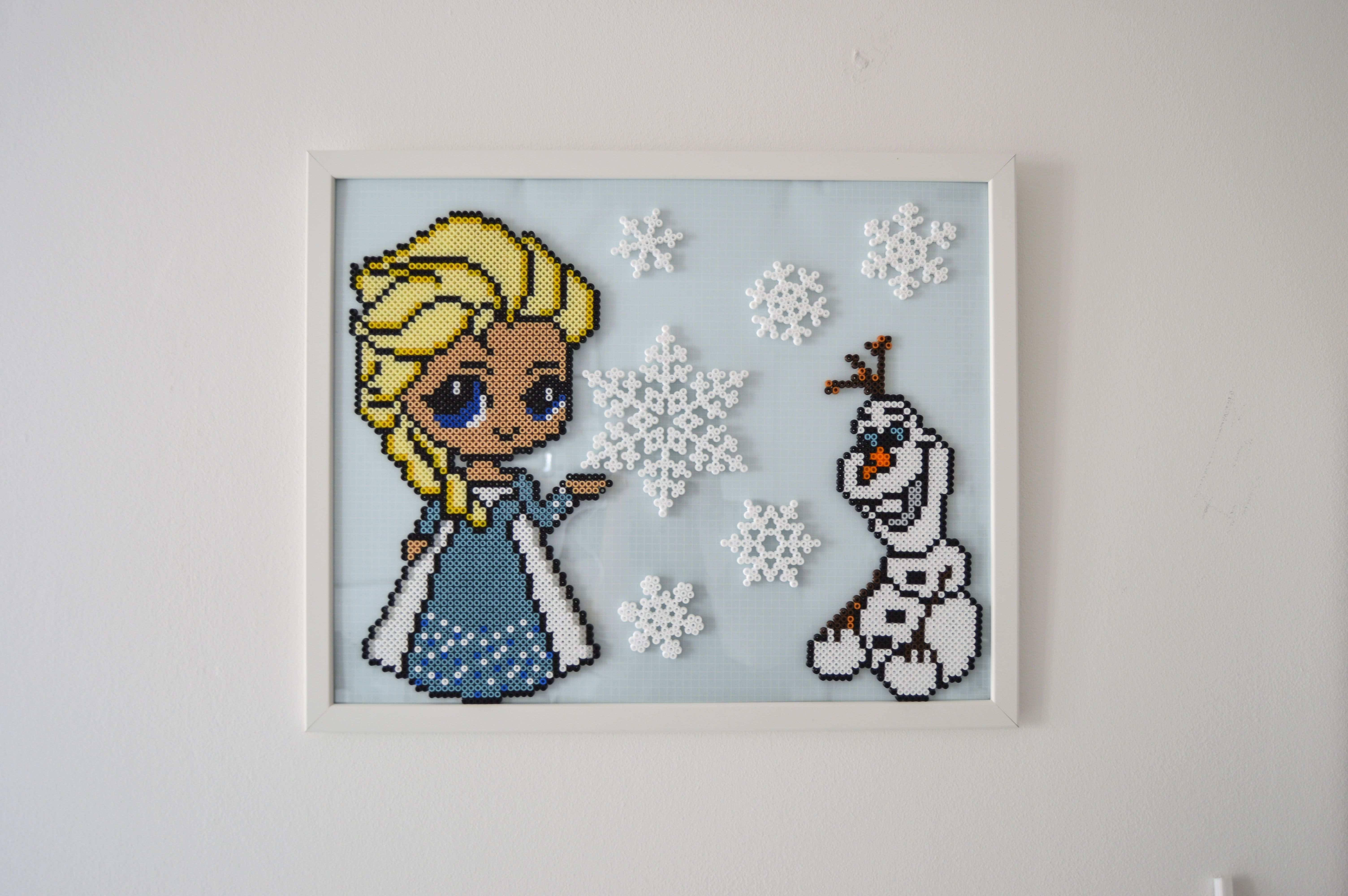 Frost Gefroren Hama Perlen Hama Perlen Elsa Olaf Disney Basteln Bugelperlen Perler Bead Designs Hama Perlen Muster