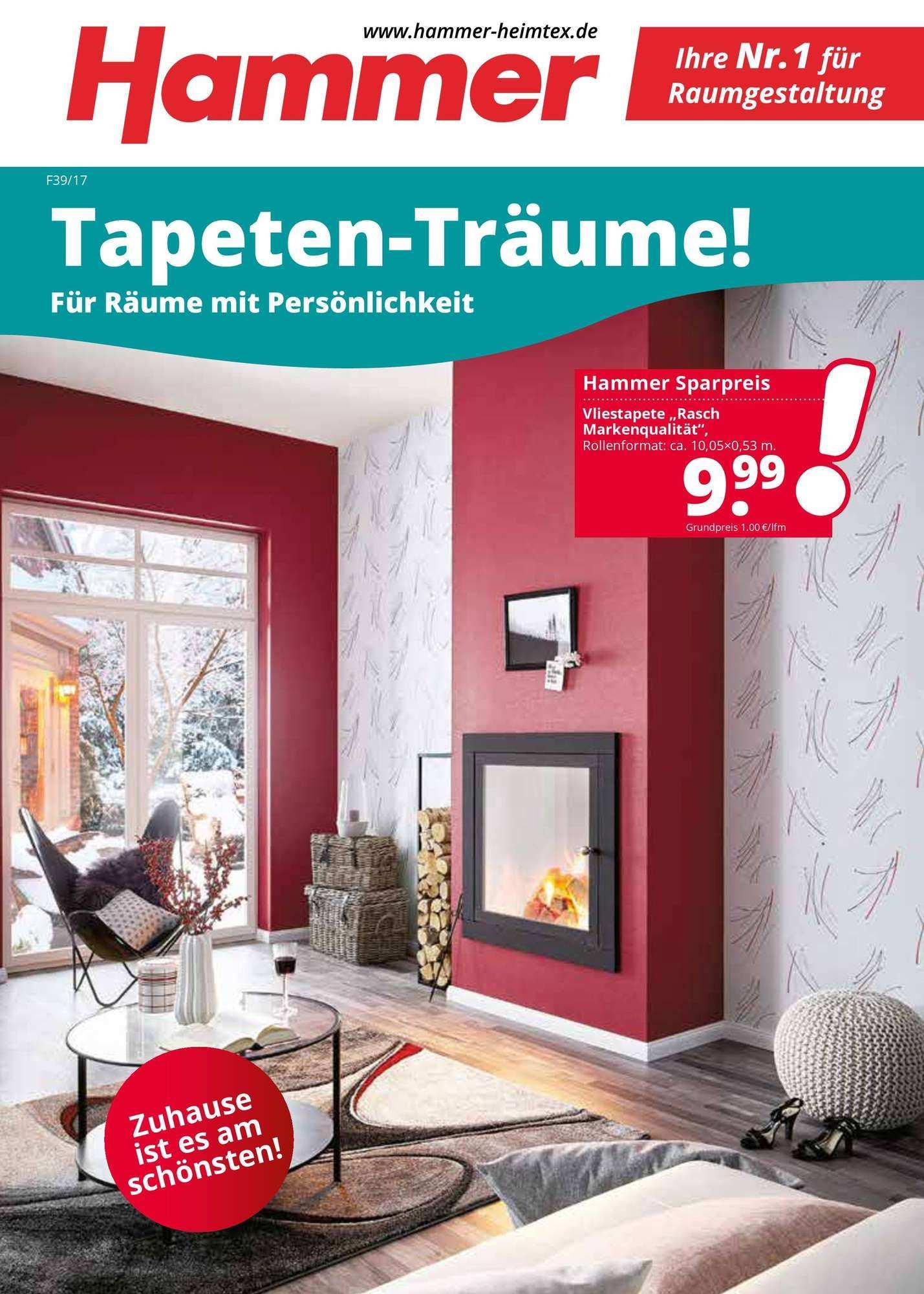 Hammer Tapeten Traume 29 09 2017 14 10 2017