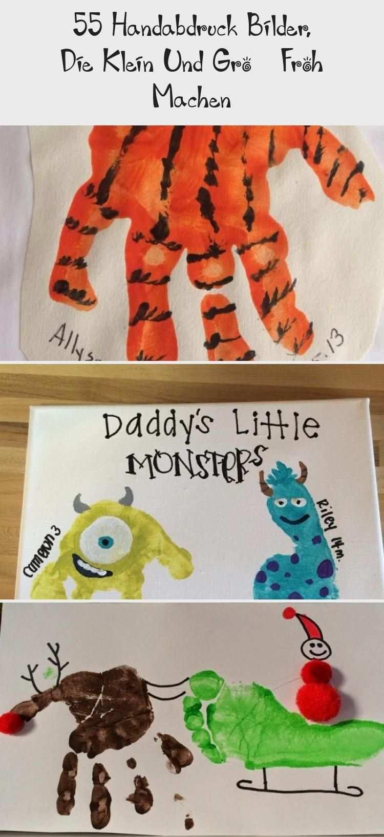 55 Handabdruck Bilder Die Klein Und Gross Froh Machen Winter Winter Crafts For Kids Crafts For Kids Winter Kids