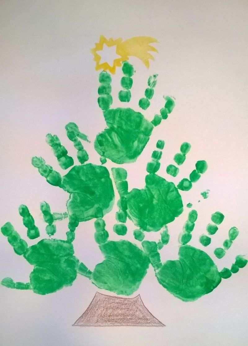 Basteln Mit Handabdruck Weihnachten Inspirierende Ideen Handabdruck Weihnachten Basteln Weihnachten Kinder Unter 3 Basteln Weihnachten U3