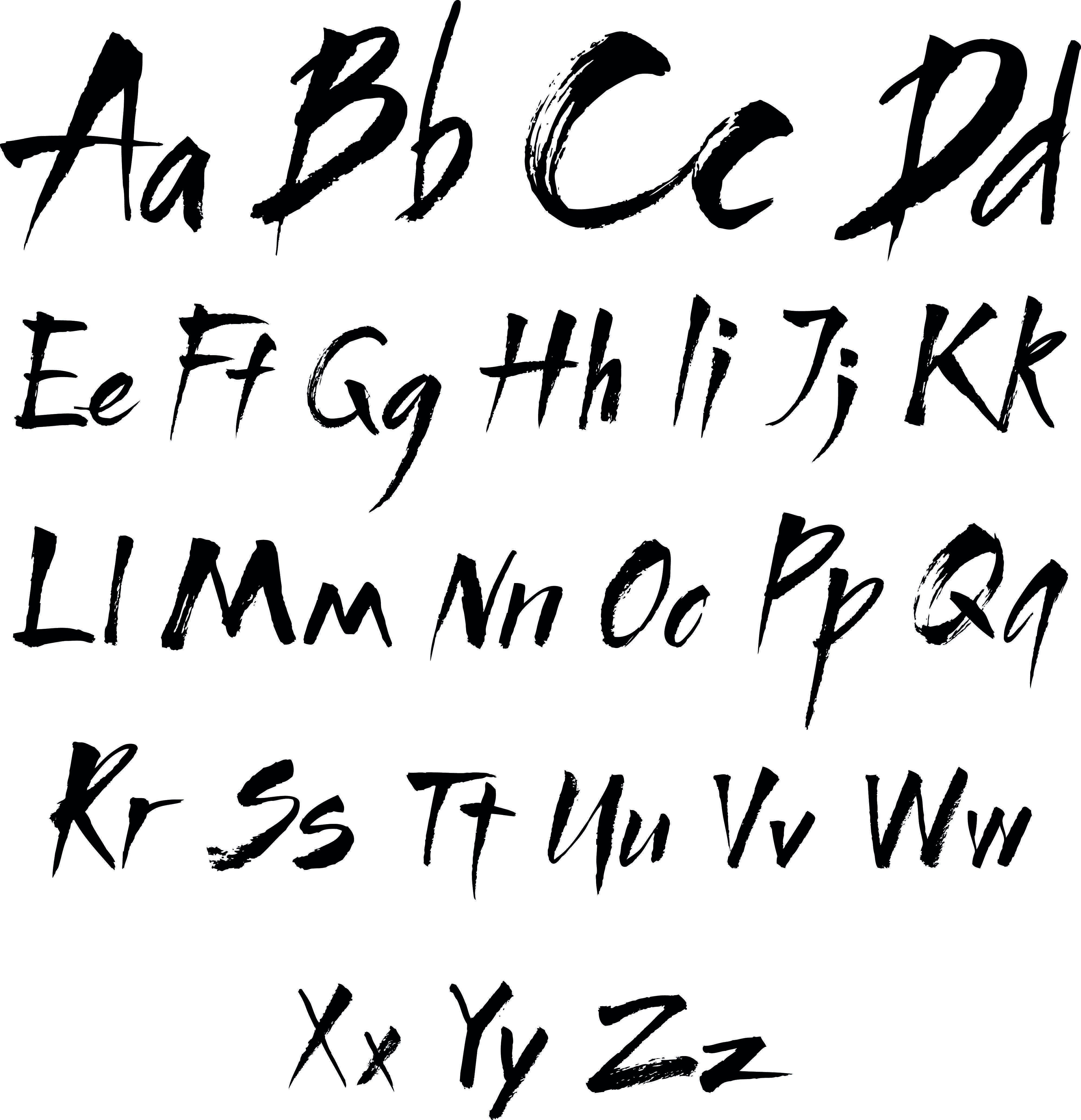 Shutterstock 101033221 Buchstaben Vorlagen Zum Ausdrucken Alphabet Buchstaben Moderne Kalligraphie Alphabet