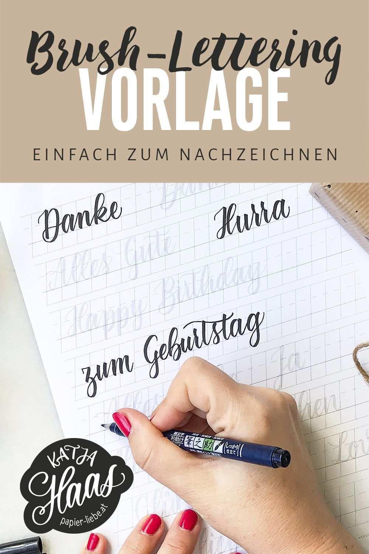 Brush Lettering Worter Zum Nachzeichnen Bzw Uben Kostenlos Downloaden Brushlettering Lettering Handlettering Ka Lettering Pinselschrift Lettering Lernen