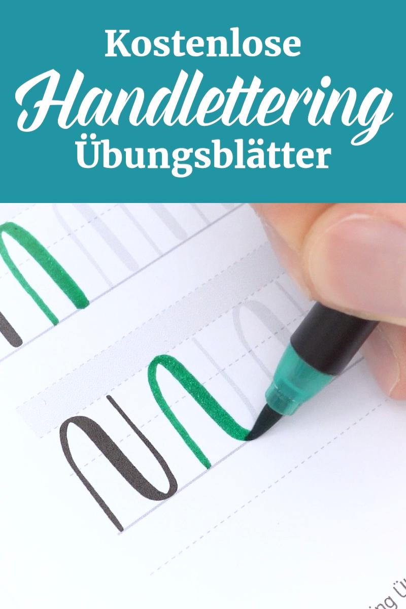 Handlettering Ubungsblatter Kostenlos Video Lettering Lettering Lernen Handlettering