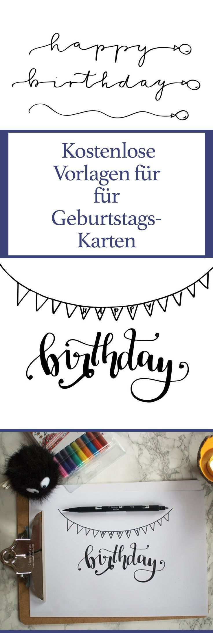 Pin Auf Geburtstags Karten Ideen Mit Handlettering