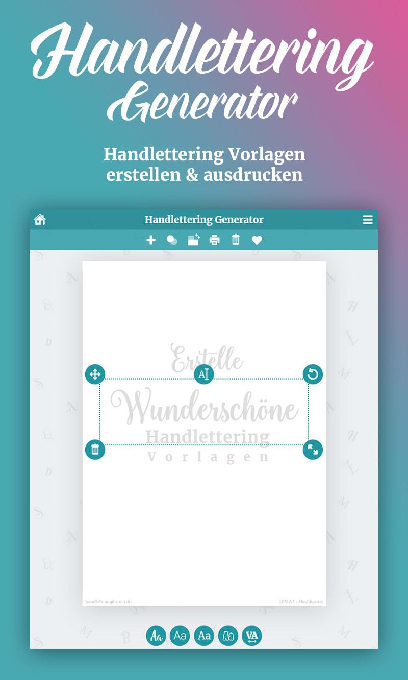 Dein Handlettering Generator Vorlagen Gestalten Ausdrucken Lettering Lettering Lernen Handlettering