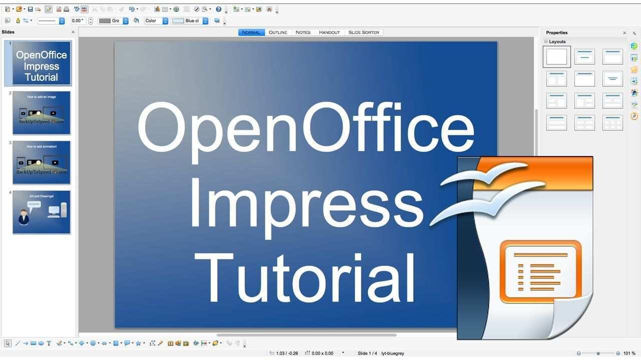 Openoffice Impress Slideshow Beginner Tutorial Throughout Open Office Presentation Templates Best Temp In 2020 Presentation Templates Best Templates Template Design