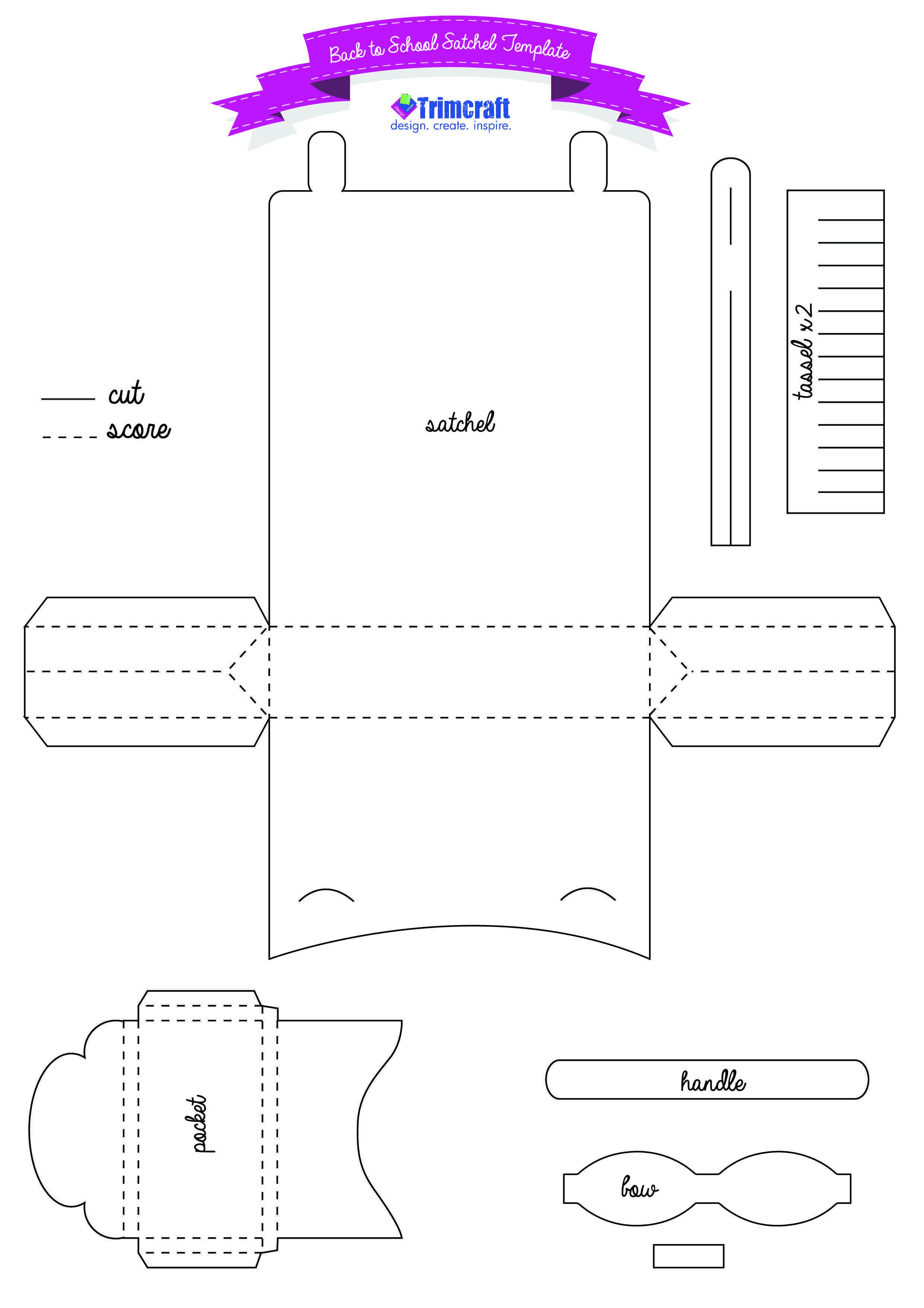Diy Back To School Me To You Paper Satchel Template Nahprojekte Papierfaltkunst Vorlagen
