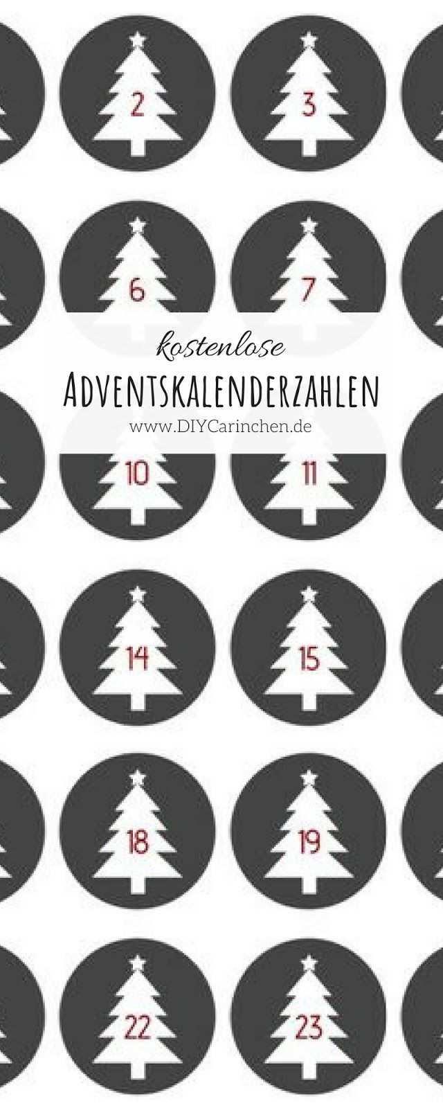 Diy Kostenlose Adventskalender Zahlen Als Pdf Zum Ausdrucken Adventkalender Adventskalender Zahlen Advent