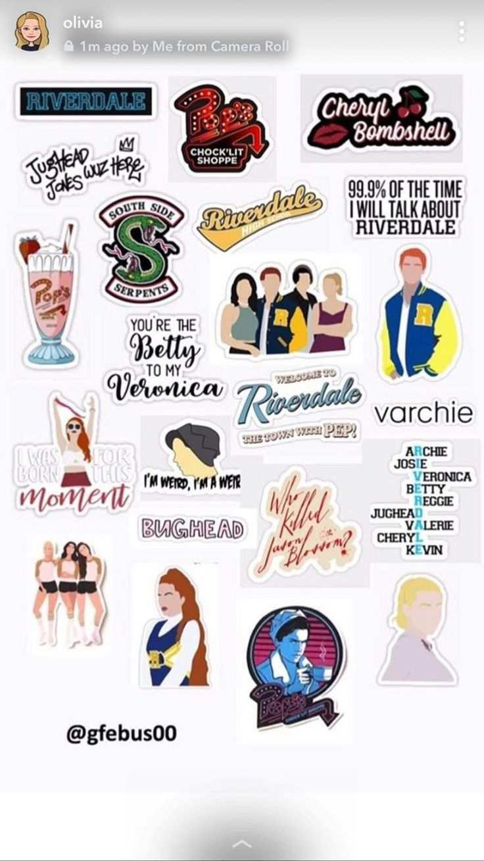 Gabriela Isanieris Riverdale Aufkleber Vorlage Tumblr Sticker Bedruckbare Aufkleber Aufkleber