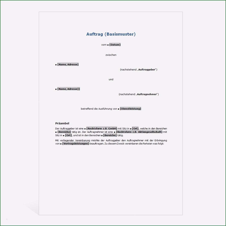 Amazing Werkvertrag Vorlage Die Sie Begeistern Vorlagen Vertrag Name