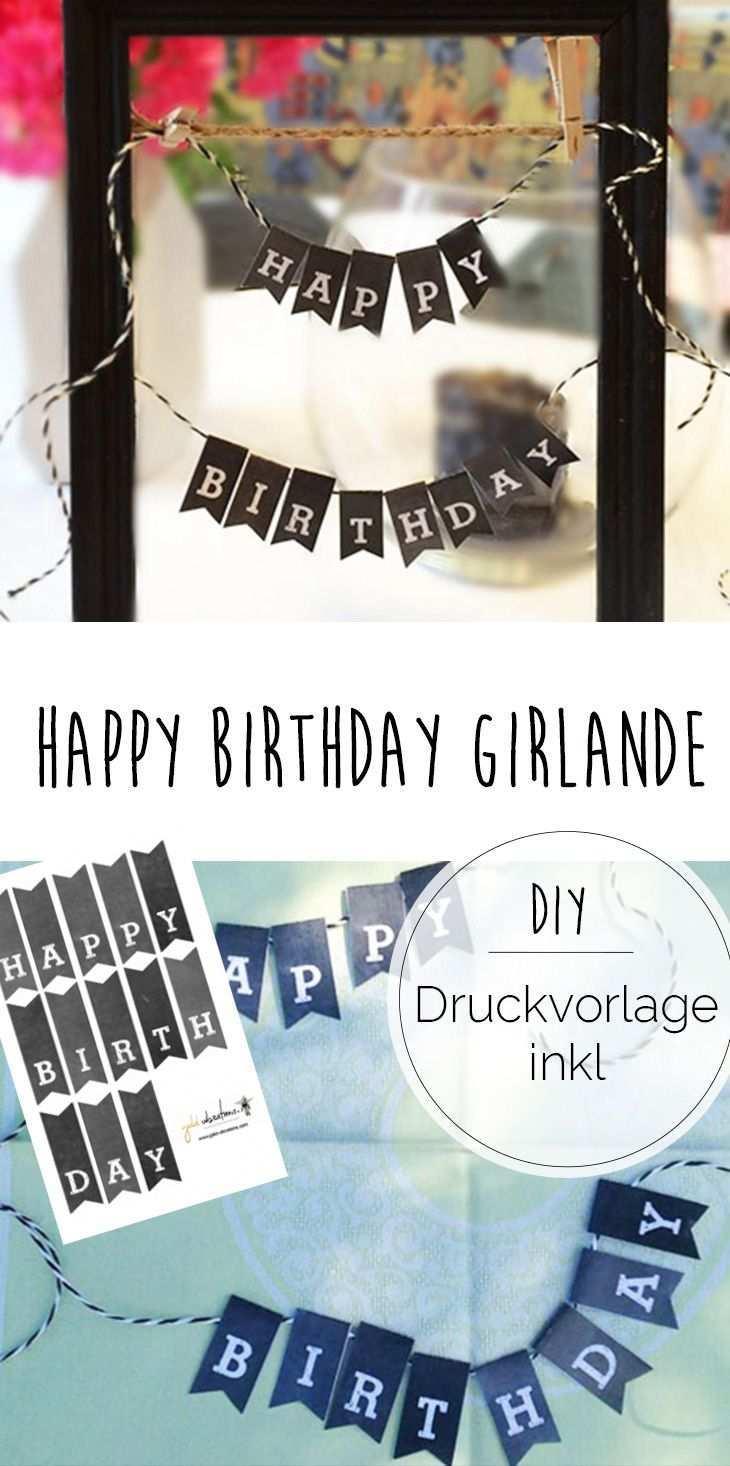 Hayppy Birthday Mini Girlande Susse Deko Fur Geburtstage Happy Birthday Girlande Party Dekoration Selbst Basteln Basteln Geburtstag