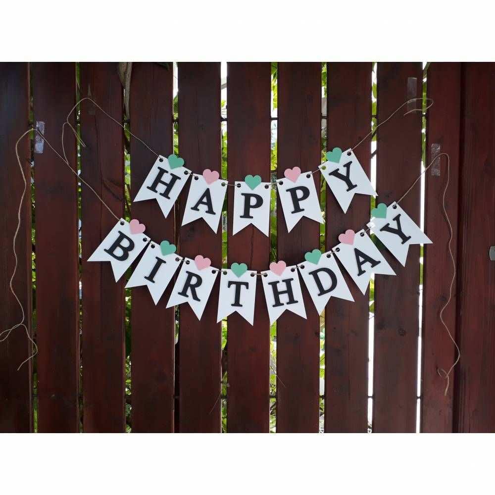 Girlande Wimpelkette Fahnengirlande Happy Birthday Zum Geburtstag Partydekoration Geburtstagsde Wimpelkette Geburtstag Basteln Fahne Girlande Girlanden Basteln