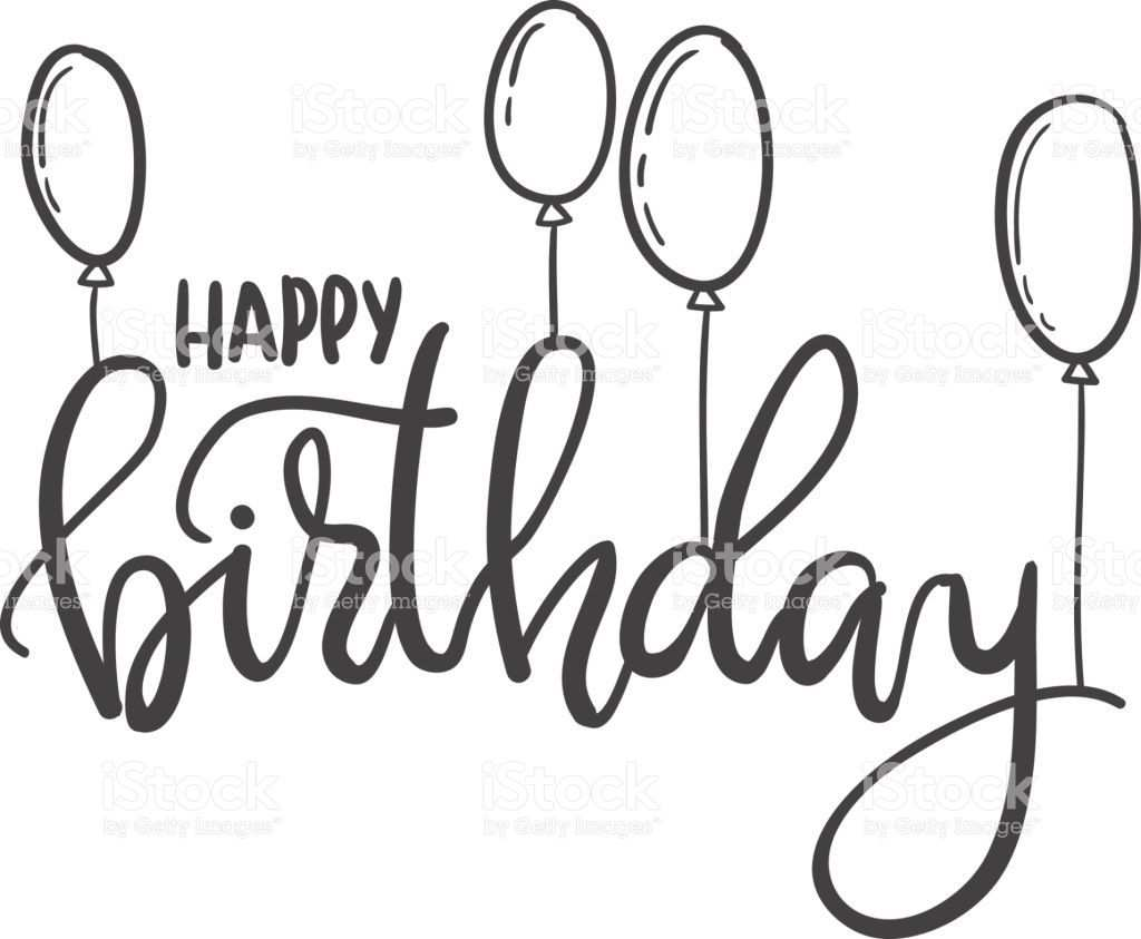 Happy Birthday Hand Lettering Typography Template For Posters Alles Gute Zum Geburtstag Schrift Alles Gute Zum Geburtstag Kalligraphie Alles Gute Geburtstag