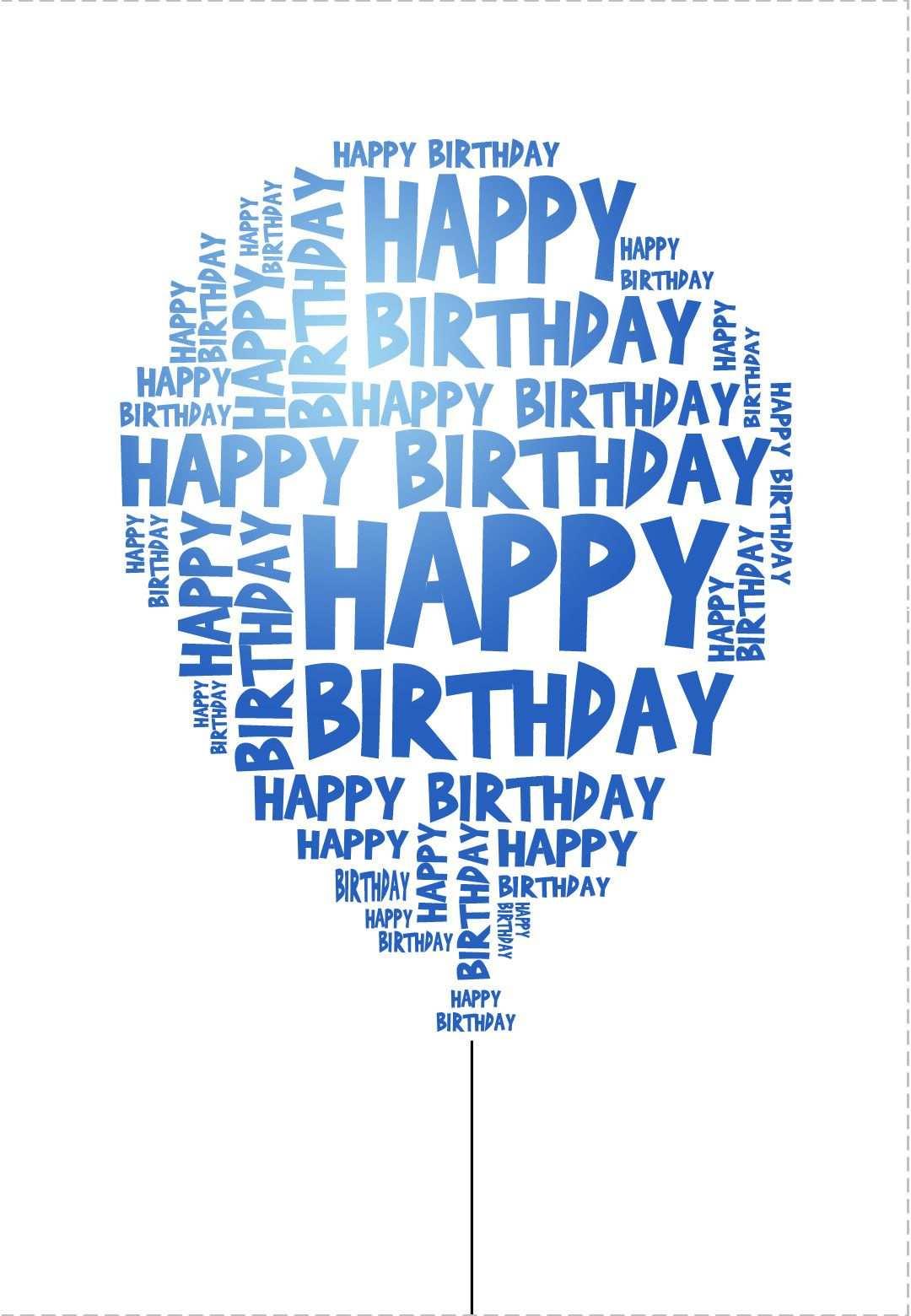 Free Printable Happy Birthday Balloon Greeting Card Verjaardagskaart Verjaardagskaarten Verjaardagsbord