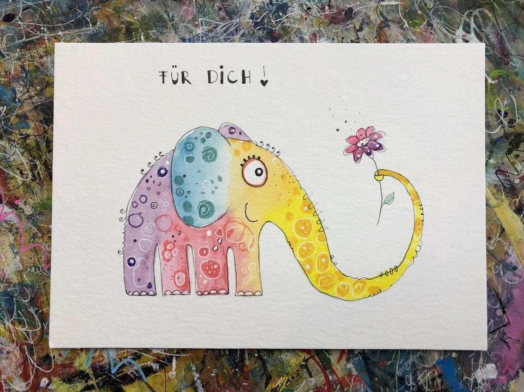 Happy Elefant Minikurs Kostenlos Male Mit Mir Einen Frohlichen Elefanten Es Wird Ganz Leicht Versprochen Ha Elefant Malen Elefant Zeichnung Tiere Malen