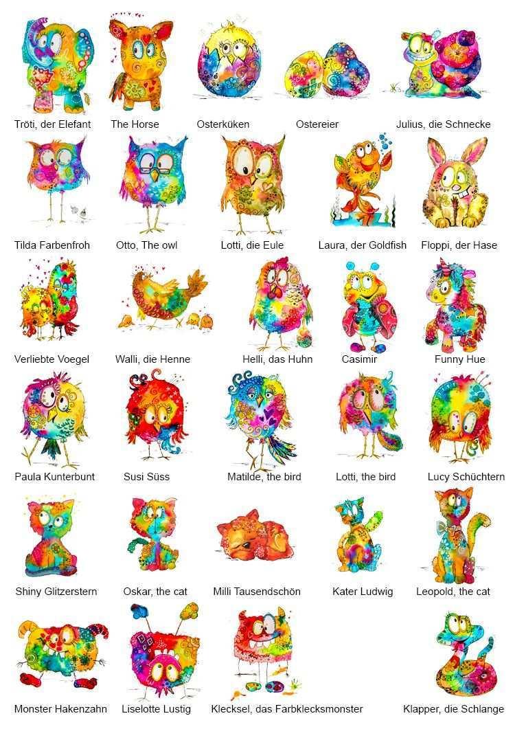 My Colorful Crazy World Anja Sonnenschein Bilder Selber Malen Malen Und Zeichnen Selber Malen