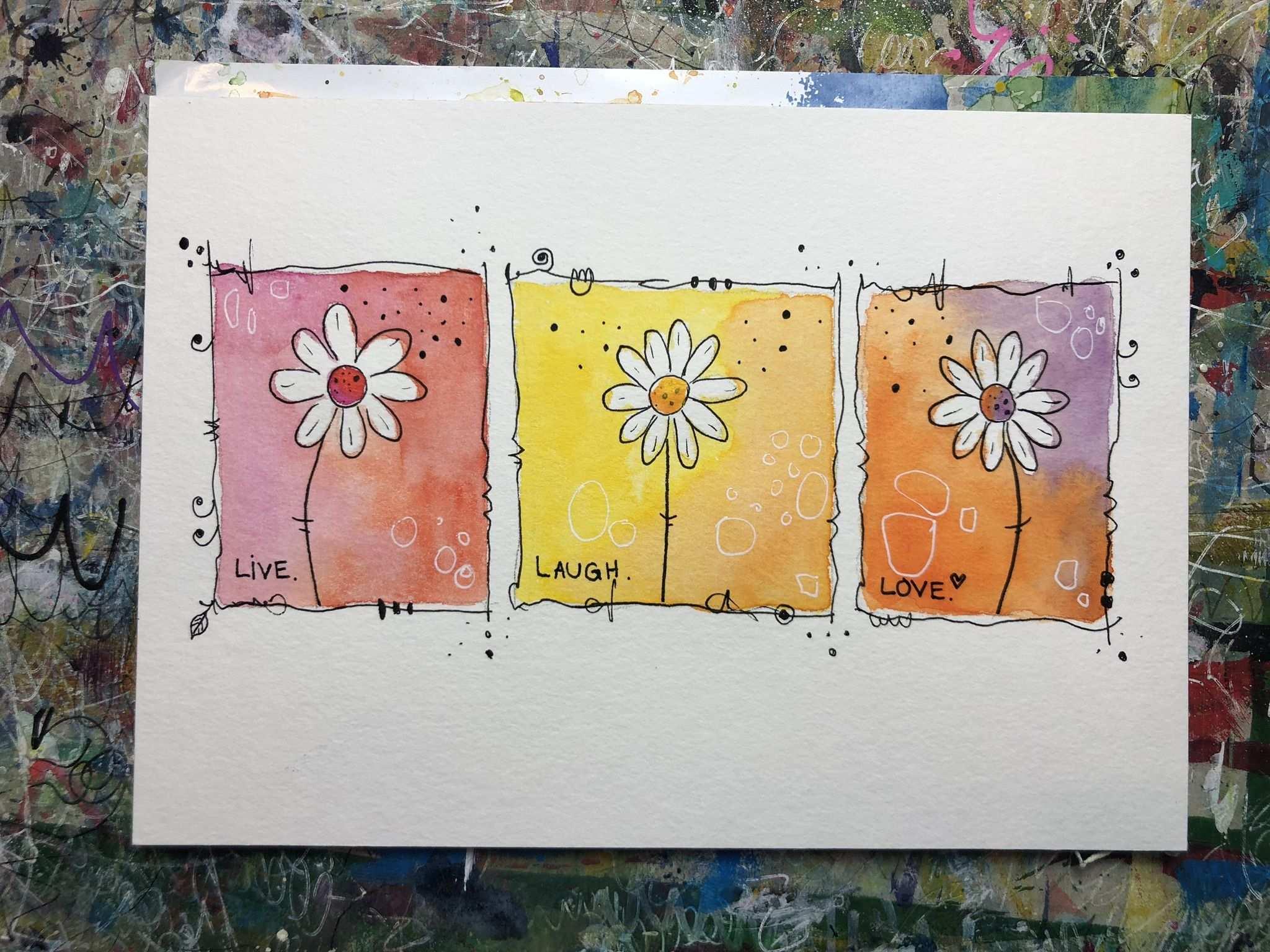 Lerne Blumen Malen Mit Viel Freude Und Leichtigkeit Mit Der Happy Painting Methode Von Clarissa Blumen Malen Blumen Zeichnen Malanleitung