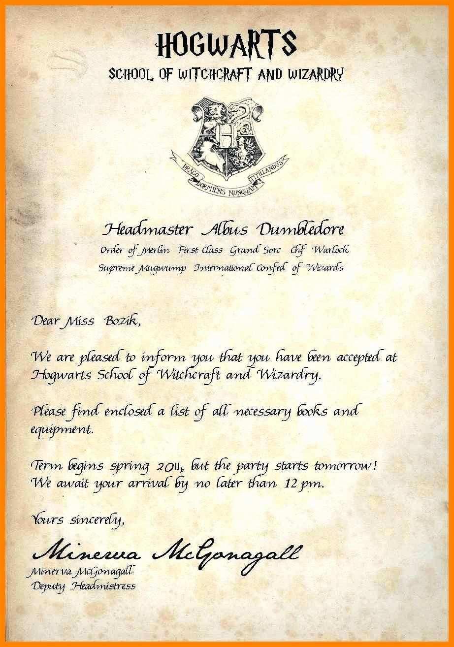 Harry Potter Acceptance Letter Template Elegant 12 13 Hogwarts Acceptance Le In 2020 Hogwarts Acceptance Letter Template Hogwarts Acceptance Letter Harry Potter Letter