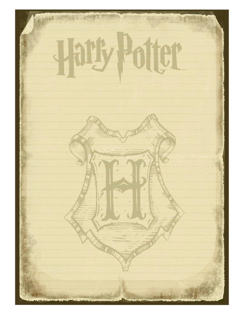 Harry Potter Invitation Briefpapier Harry Potter Selber Machen Harry Potter Geburtstag