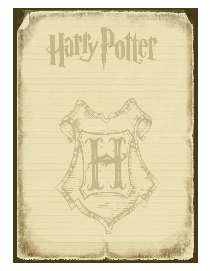 Harry Potter Invitation Briefpapier Harry Potter Selber Machen Harry Potter Geburtstag