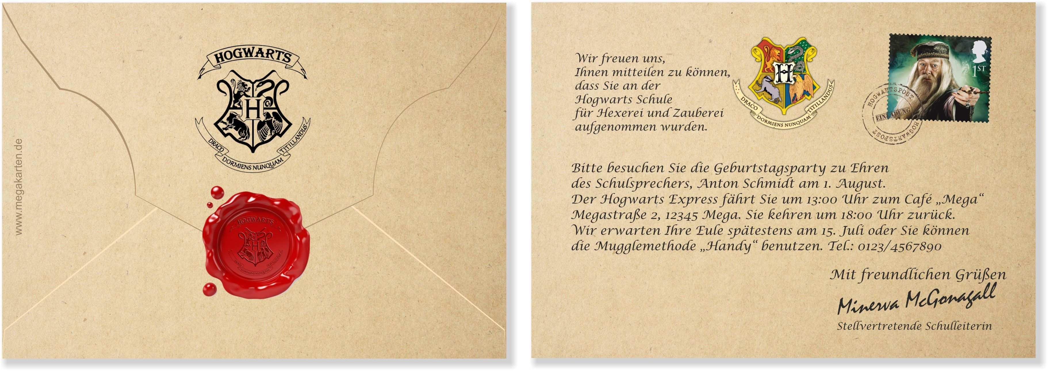 Harry Potter Geburtstagseinladung Vorlage Geburtstagseinladungen Zum Ausdrucken Geburtstagseinladungen Einladungskarten Zum Ausdrucken