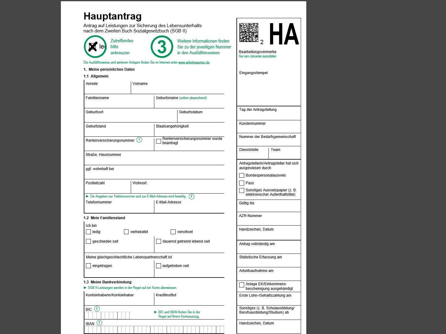 Hartz Iv Antrag Arbeitslosengeld Ii Vorlage Pdf Download Chip