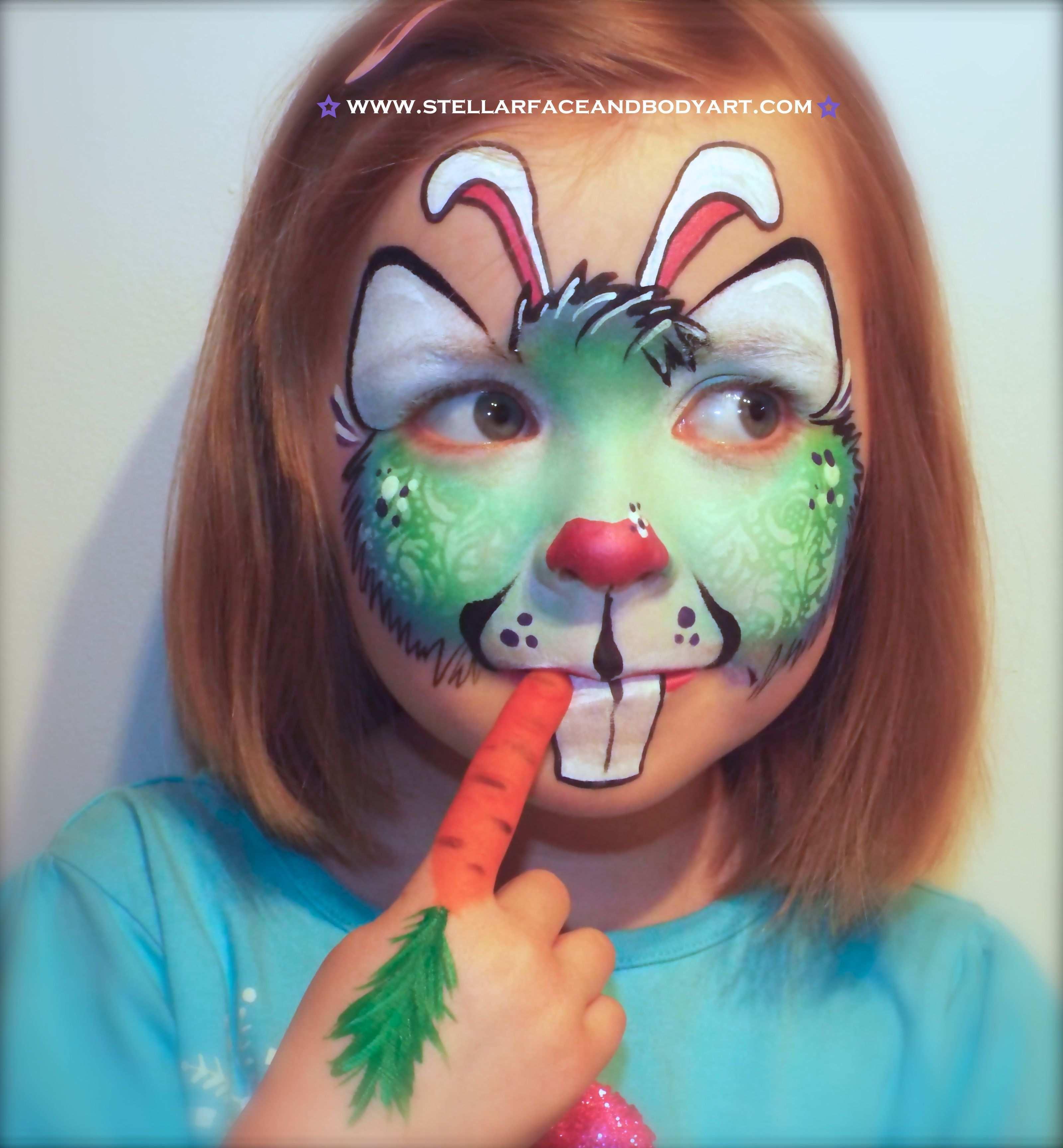 Easter Bunny Face Painting Kinder Schminken Kinderschminken Bemalte Gesichter