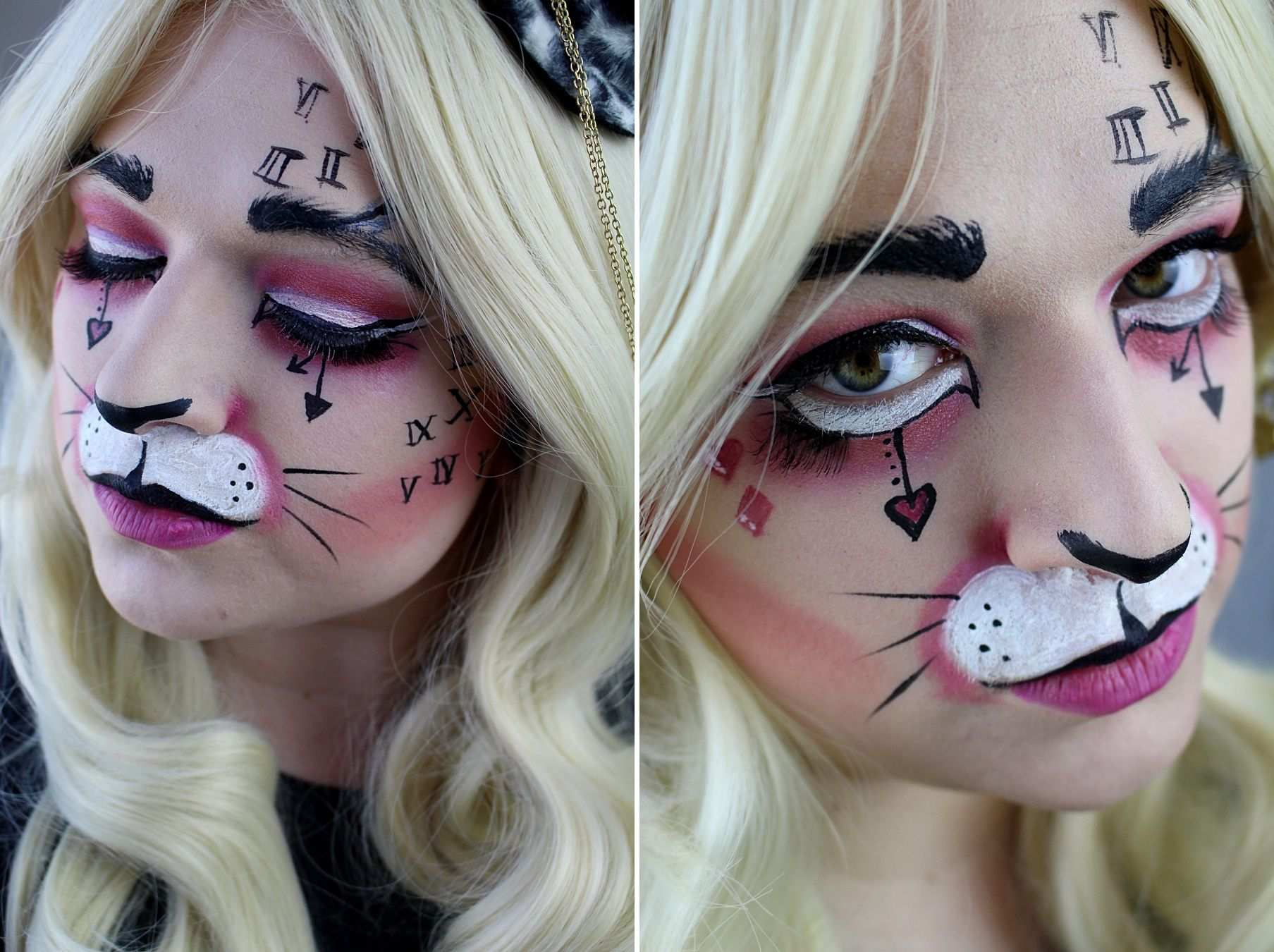 White Rabbit Make Up Alice In Wonderland Makeup Aliceinwonderland Whiterabbit Halloween Alice Im Wunderland Kostum Alice Im Wunderland Hase Hase Schminken