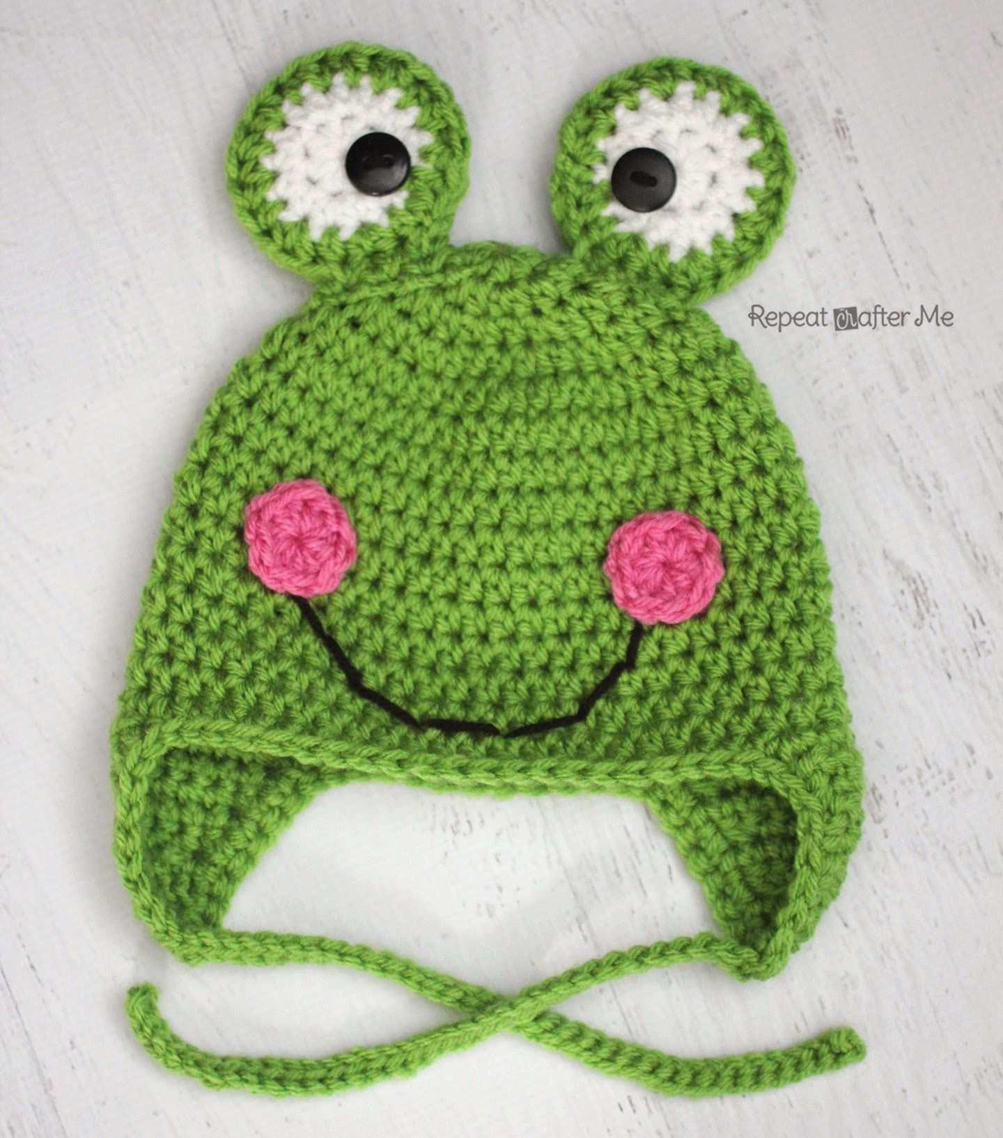 Crochet Frog Hat Pattern Repeat Crafter Me Kinder Mutze Hakeln Haube Hakeln Mutze Hakeln