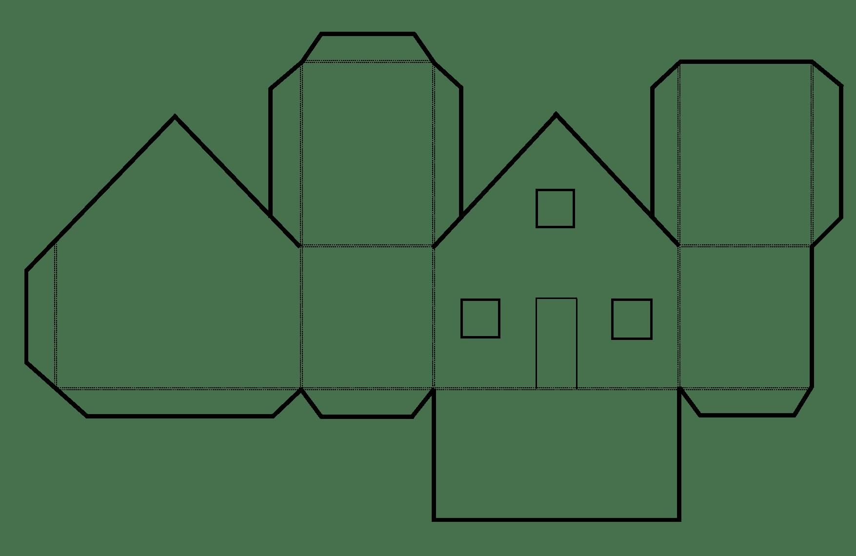 Haus Aus Papier Basteln Vorlagen Dekoking Diy Bastelideen With Falten Vorlage Paper House Template Diy Crafts Crafts