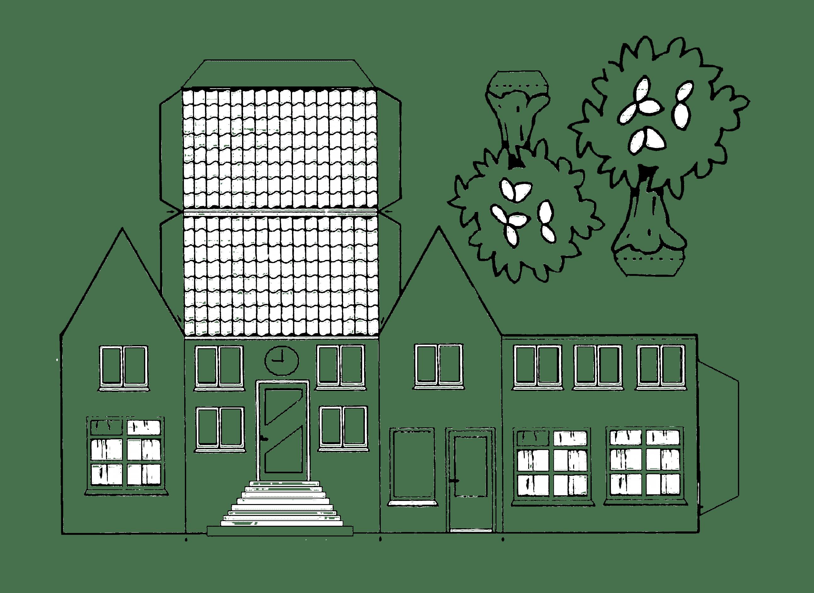 Haus Aus Papier Basteln Vorlagen Dekoking Diy Mehr In 2020 Basteln Mit Papier Vorlagen Basteln Mit Papier Hausvorlage