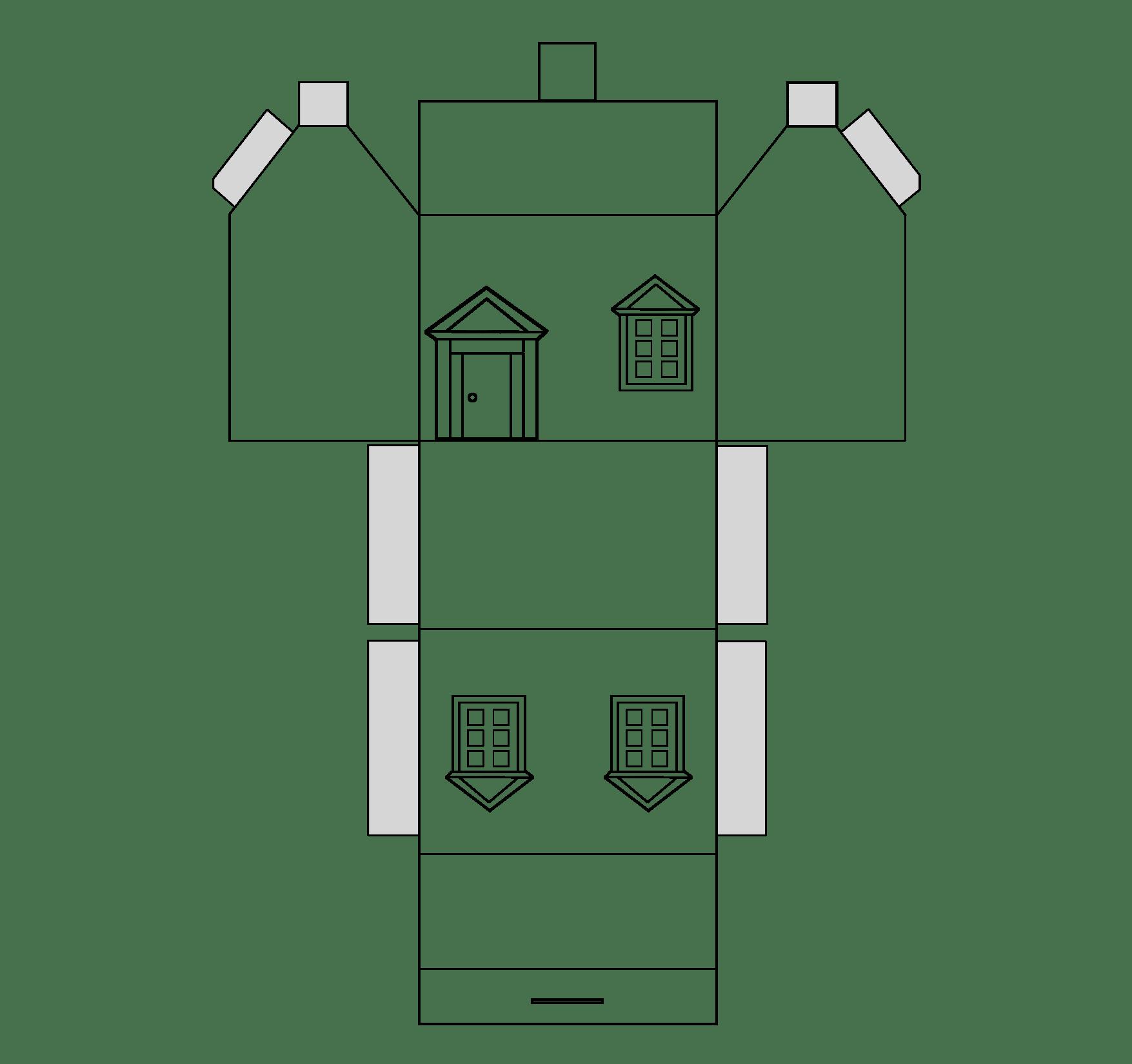 Haus Aus Papier Basteln Vorlagen Dekoking Diy Mehr Basteln Mit Papier Vorlagen Basteln Mit Papier Karton Basteln