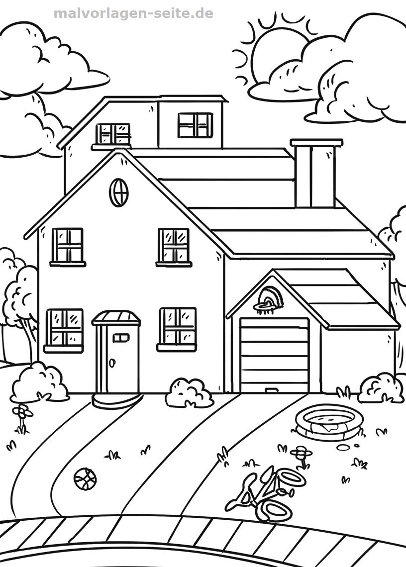 Malvorlagen Haus Mit Garten Malvorlagen Ausmalen Ausdrucken