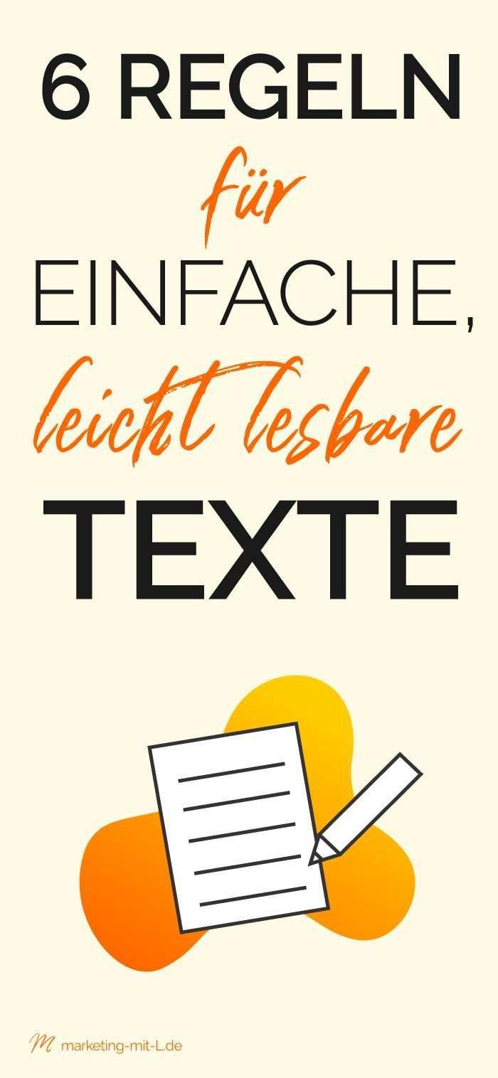 7 Regeln Fur Einfache Leicht Lesbare Texte Content Der Begeistert Texte Schreiben Hausarbeit Schreiben Kinderbuch Schreiben