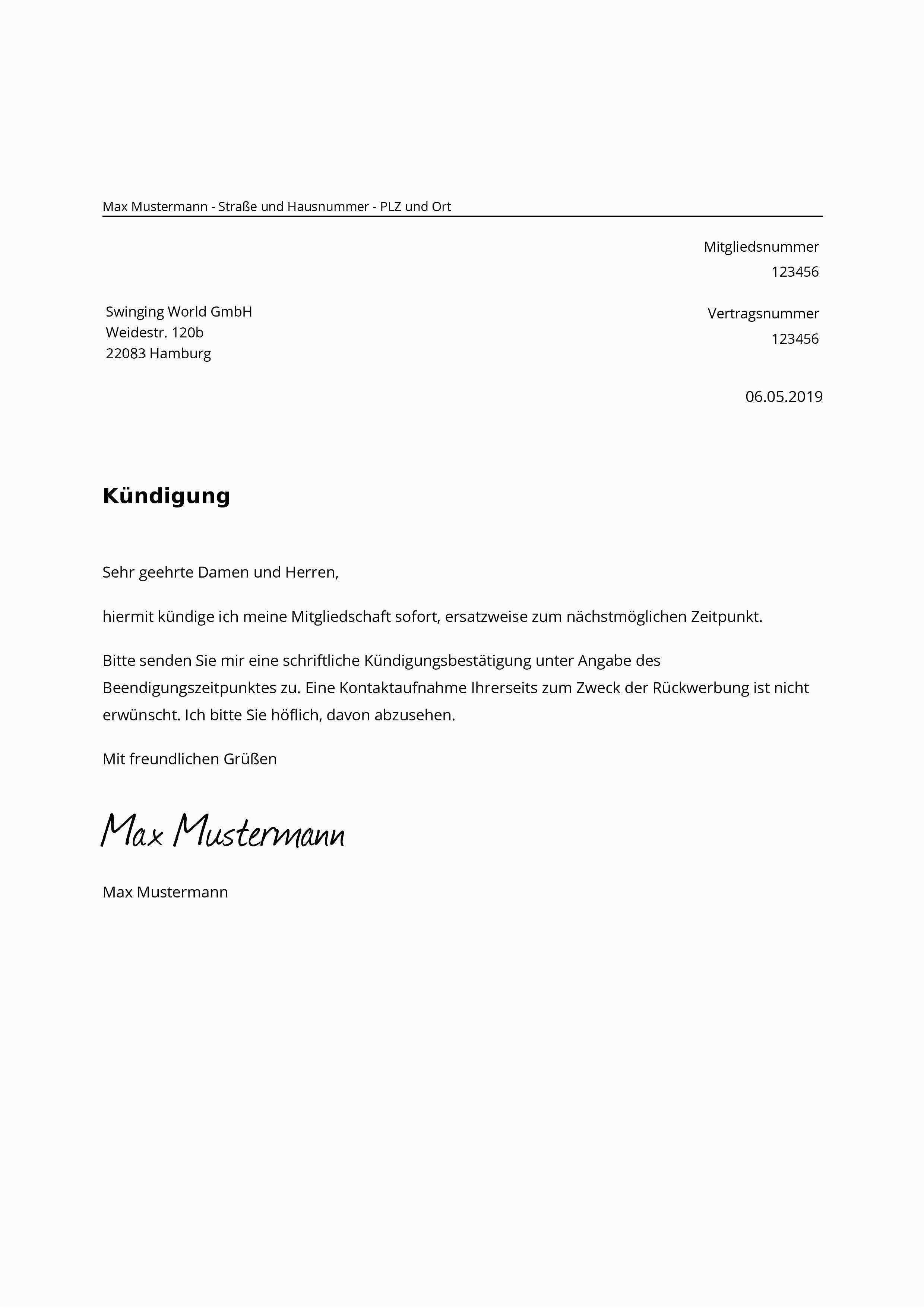 Qualifiziert Hausarztvertrag Kundigen Vorlage Vorlagen Lebenslauf Lebenslauf Kundigung